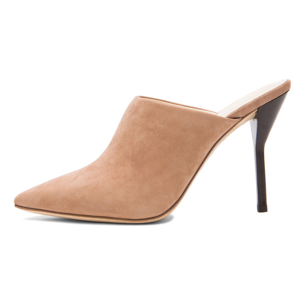 3.1 PHILLIP LIM Martini high heel suede mules - Suede upper with leather sole.  Made in China.  Approx...