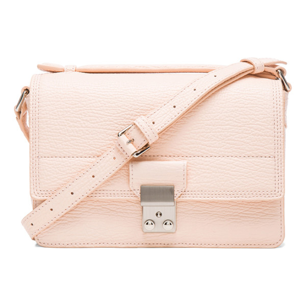 3.1 PHILLIP LIM Mini pashli messenger - Pebbled leather with canvas fabric lining and silver-tone...
