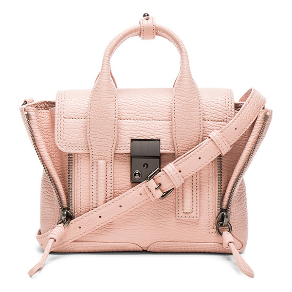 3.1 PHILLIP LIM Pashli mini satchel - Full grained leather with canvas fabric lining and...