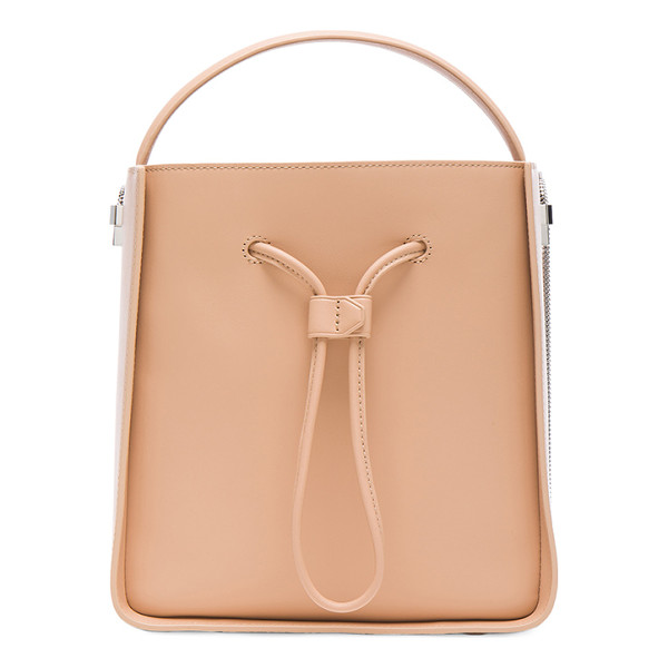 3.1 PHILLIP LIM Soleil Small Bucket Bag - Genuine leather with twill lining and silver-tone hardware.
