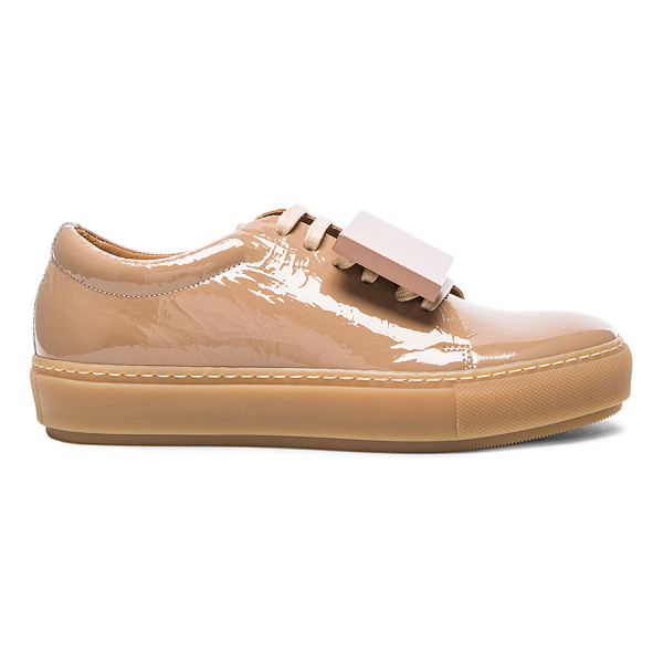 ACNE STUDIOS Adriana Patent Leather Sneakers - Patent leather upper with rubber sole.  Made in Italy. ...
