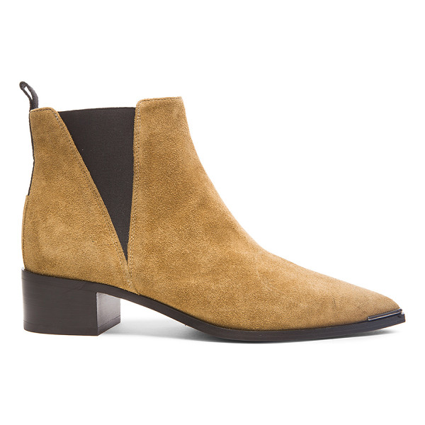 ACNE STUDIOS Suede Jensen Boots - Suede upper with leather sole. Made in Italy. Approx 40mm/