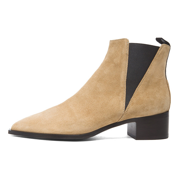 ACNE STUDIOS Jensen Suede Booties - Suede upper with leather sole. Made in Italy. Approx 40mm/