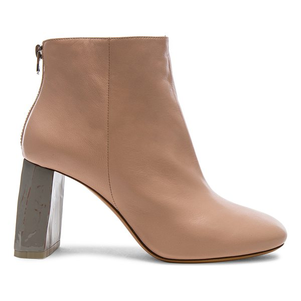 ACNE STUDIOS Leather Claudine Booties - Leather upper and sole.  Made in Italy.  Approx 75mm/ 3...