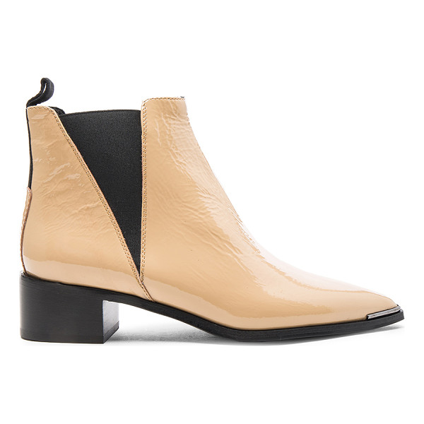 ACNE STUDIOS Patent Leather Jensen Booties - Patent leather upper with leather sole.  Made in Italy. ...