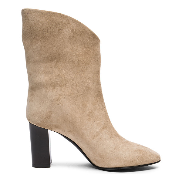 ACNE STUDIOS Suede Ava Boots - Suede upper with leather sole. Made in Italy. Shaft...
