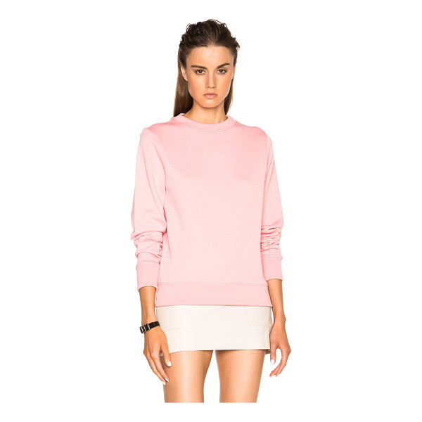 ACNE STUDIOS Vernina sweatshirt - Self: 100% cotton - Rib: 95% poly 5% elastan.  Made in...