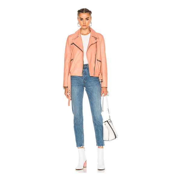 A.L.C. Duvall Jacket - Self: 100% leather - Lining: 62% viscose 38% cotton.  Made...