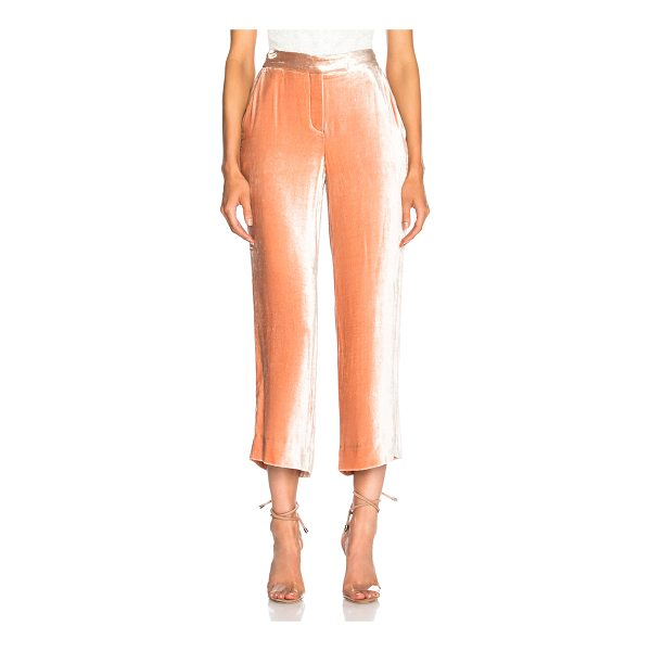 A.L.C. Robbie Pants - 84% viscose 16% silk.  Made in China.  Dry clean only. ...