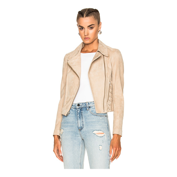 A.L.C. Syd Jacket - Self: 100% lambskin suede leather - Lining: 62% viscose 38%...