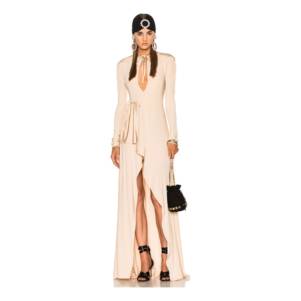 ALESSANDRA RICH Jersey Asymmetrical Gown - 95% viscose 5% elastan. Made in Italy. Dry clean only....