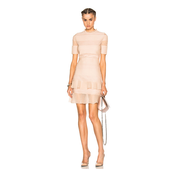 ALEXANDER MCQUEEN Bandage Mini Dress - Self: 69% silk 31% poly - Lining: 100% viscose.  Made in...