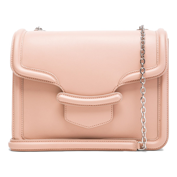 ALEXANDER MCQUEEN Hero chain satchel - Genuine leather with suede lining and silver-tone hardware....