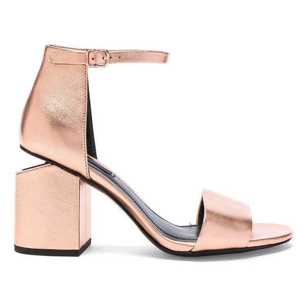 ALEXANDER WANG Abby Metallic Leather Sandals - Leather upper with leather sole.  Made in China.  Approx...
