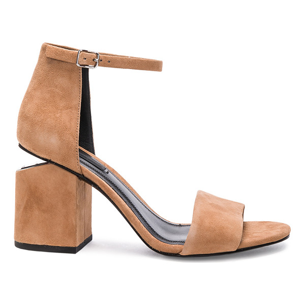ALEXANDER WANG Abby Suede Heels - Suede upper with leather sole.  Made in China.  Approx...