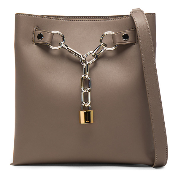ALEXANDER WANG Attica Chain Shoulder Bag - Leather with fabric lining and silver-tone hardware.  Made