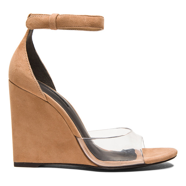 ALEXANDER WANG Erika suede wedge sandals - Suede upper with leather sole.  Made in China.  Approx...