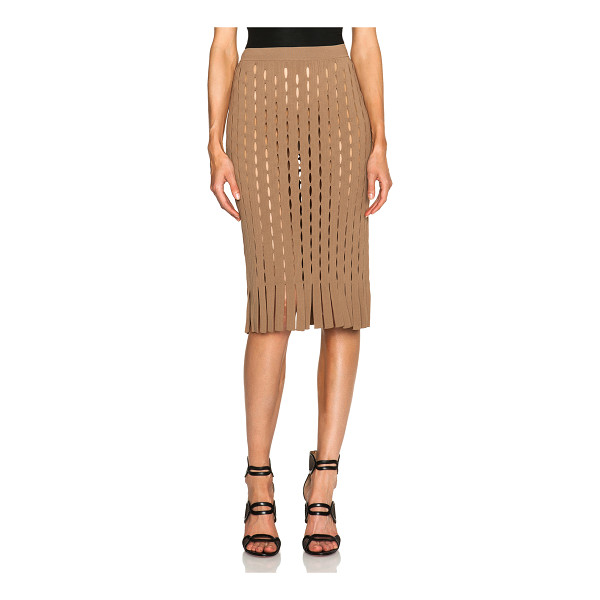 ALEXANDER WANG Fitted pencil skirt with intarsia split stripe - Self: 73% rayon 27% nylon - Lining: 100% rayon.  Made in...