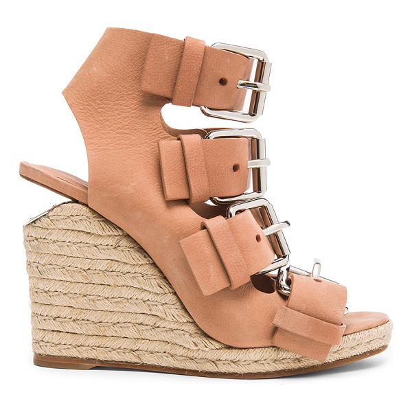 ALEXANDER WANG Jo leather wedges - Leather upper and sole.  Made in China.  Approx 10mm/ 0.5...