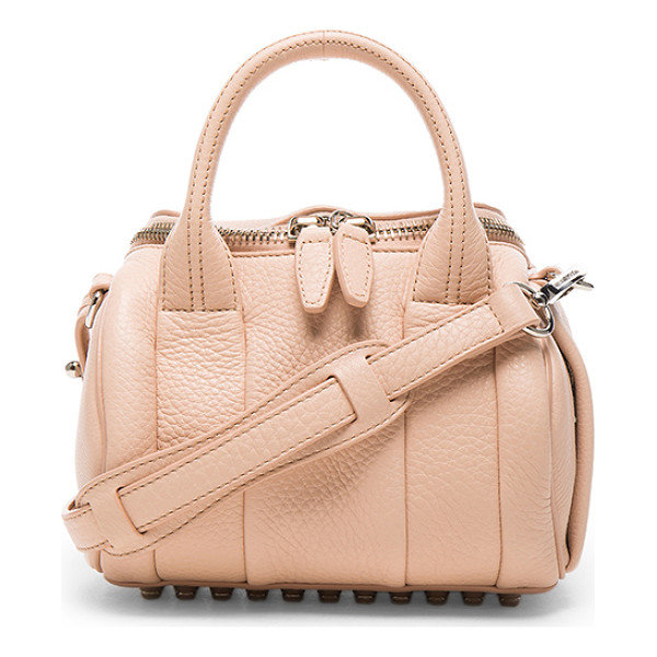 ALEXANDER WANG Mini Rockie Pebbled Bag - Pebbled leather with fabric lining and silver-tone...