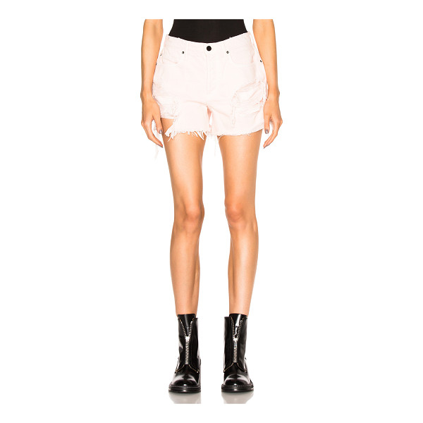 ALEXANDER WANG Oversized Shorts - Self: 100% cotton - Lining: 65% cotton 35% poly.  Made in