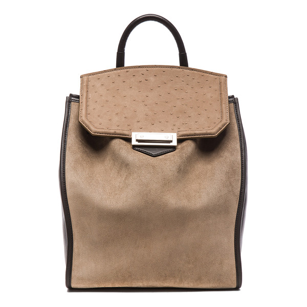 ALEXANDER WANG Prisma backpack - Suede and leather feature fabric lining with silver-tone...