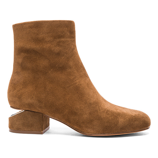 ALEXANDER WANG Suede Kelly Boots - Suede upper with leather sole.  Made in China.  Shaft...