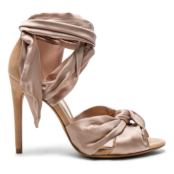 ALEXANDRE BIRMAN Satin Katherine Heels - Silk satin upper with leather sole.  Made in Brazil. ...