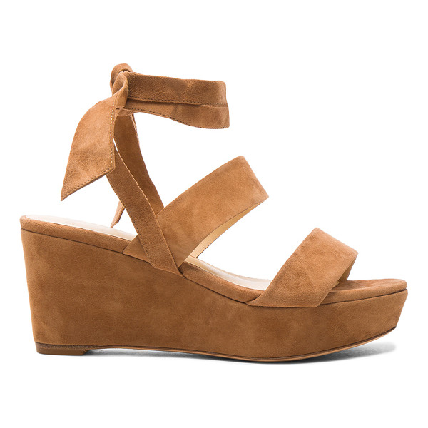 ALEXANDRE BIRMAN Suede Luma Wedges - Suede upper with leather sole. Made in Brazil. Approx 25mm/