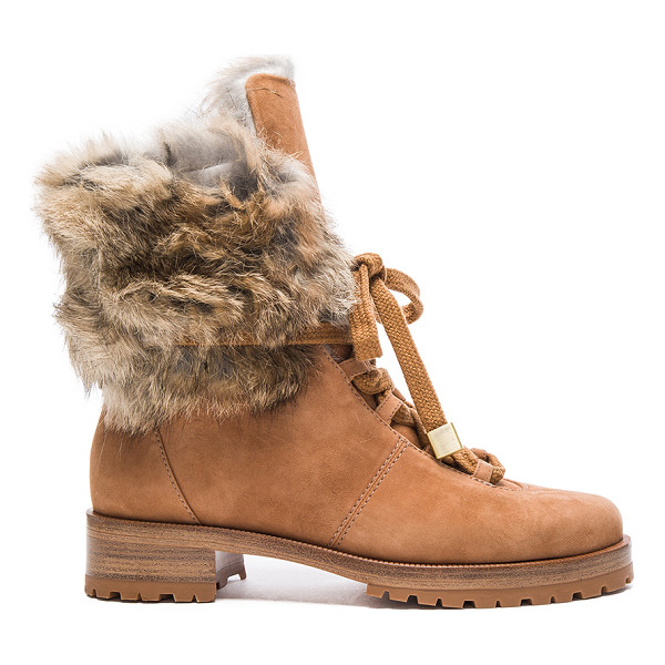 ALEXANDRE BIRMAN Winter Benjamin Suede Boots - Suede upper with rubber sole.  Made in Brazil.  Fur Origin: