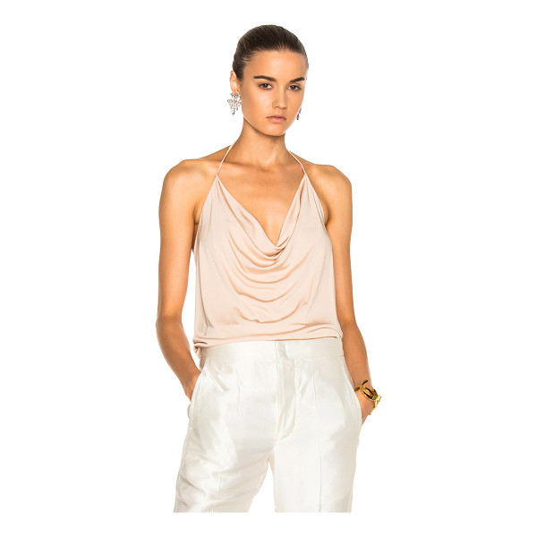 ALEXANDRE VAUTHIER Stretch Jersey Halter Top - 100% viscose. Made in EU. Dry clean only. Draped neckline....