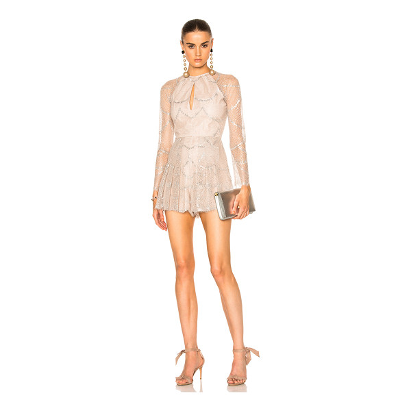 ALEXIS Chanelle Romper - Self: 80% nylon 20% metallicLining: 100% poly. Made in...