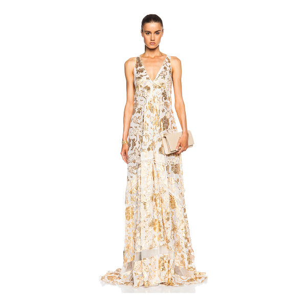 ALTUZARRA Bassano floral fil coupe gown - 90% silk 8% poly 2% nylon.  Made in Italy.  Unlined.  Fil...