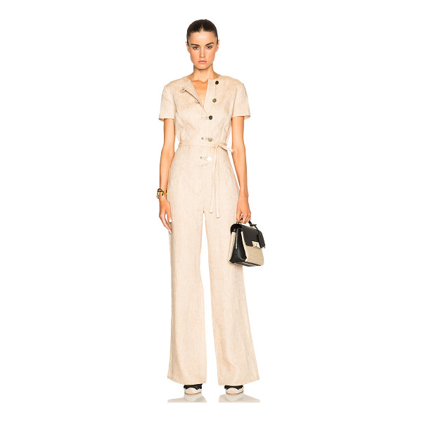 ALTUZARRA Lore Linen Jumpsuit - 100% linen.  Made in Italy.  Button front closures. ...