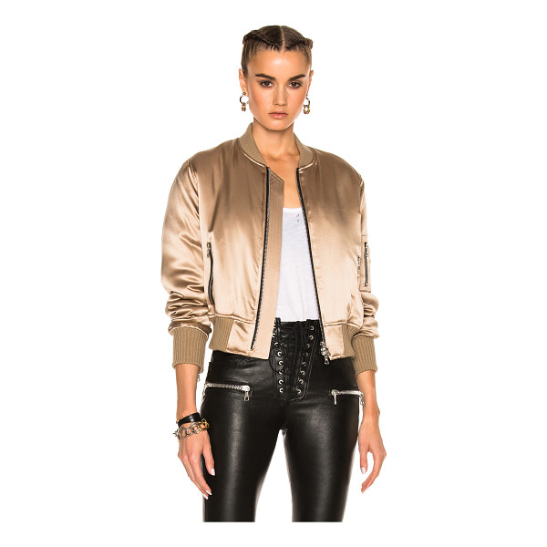 AMIRI Silk Bomber - Self: 100% silkRib: 90% cotton 10% cashmereFill: 100% poly....