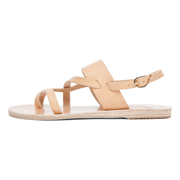 ANCIENT GREEK SANDALS Alethea Calfskin Leather Sandals - Born with strong roots in Ancient Greek myth and tradition,