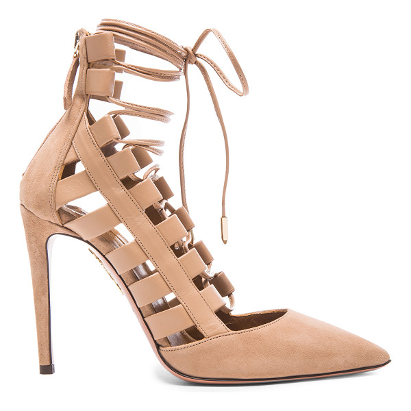 AQUAZZURA Amazon Suede Pumps - Calfskin suede upper with leather sole.  Made in Italy. ...