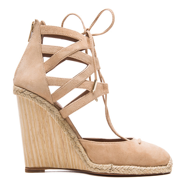 AQUAZZURA Belgravia suede wedge espadrilles - Suede upper with leather sole.  Made in Spain.  Approx...