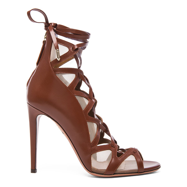 AQUAZZURA French Lover leather Heels - Leather upper and sole.  Made in Italy.  Approx 105mm/ 4.1...