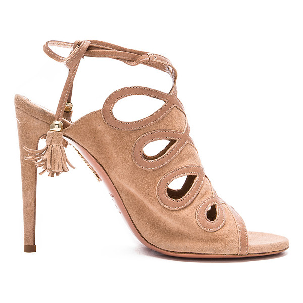 AQUAZZURA Sergeant Suede Heels - Suede upper with leather sole.  Made in Italy.  Approx...