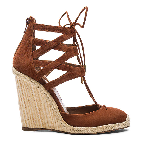 AQUAZZURA Suede Belgravia Wedges - Suede upper with leather sole.  Made in Spain.  Approx...