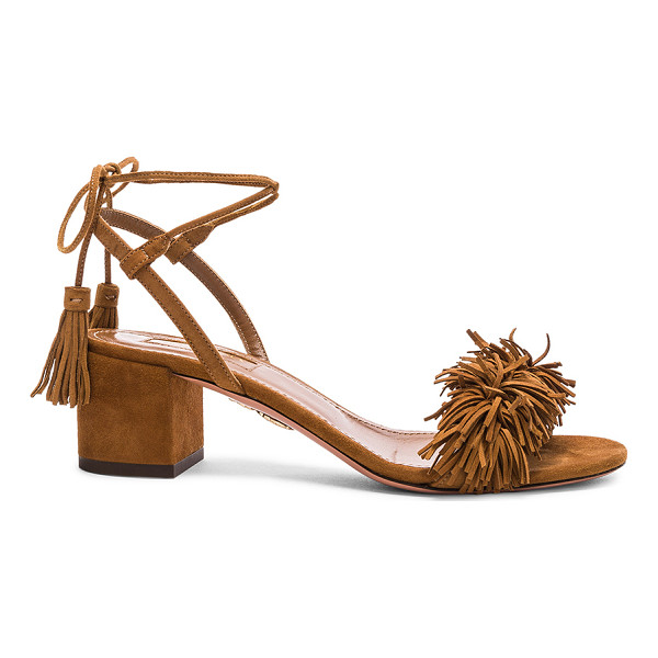 AQUAZZURA Suede Wild Thing Sandals - Suede upper with leather sole.  Made in Italy.  Approx...