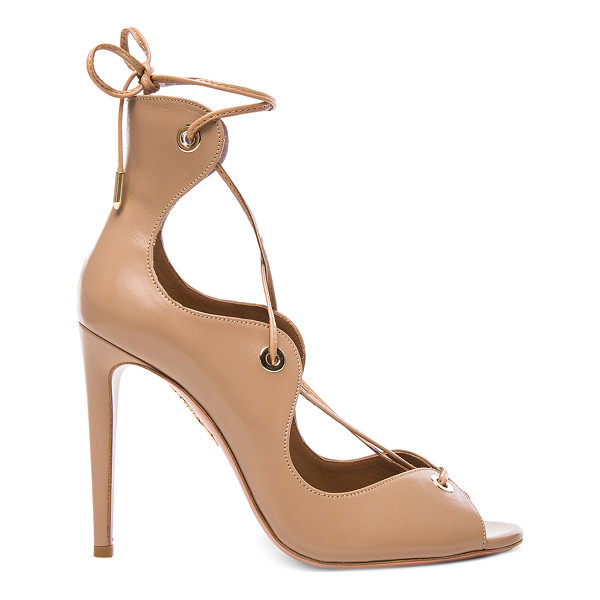 AQUAZZURA Tango Leather Heels - Leather upper and sole.  Made in Italy.  Approx 105mm/ 4.1...