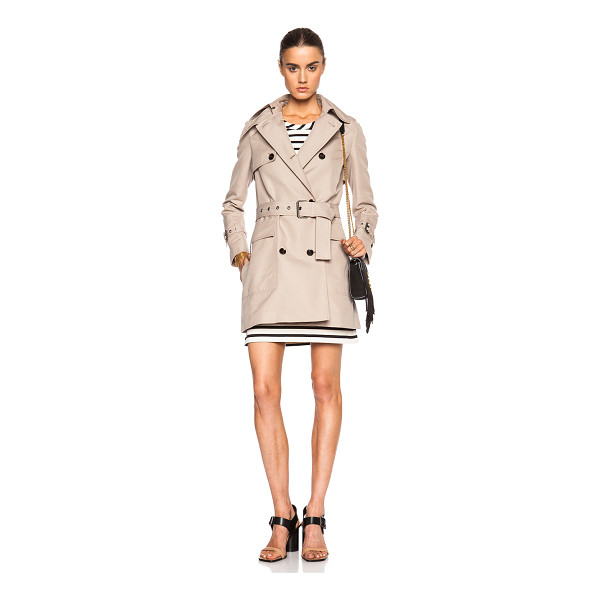 BELSTAFF Maxem cadi mousse cotton trench - Self: 100% cotton - Lining: 68% acetate 32% poly.  Made in...