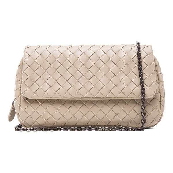 BOTTEGA VENETA Fold over messenger bag - Intrecciato nappa leather with suede lining and...