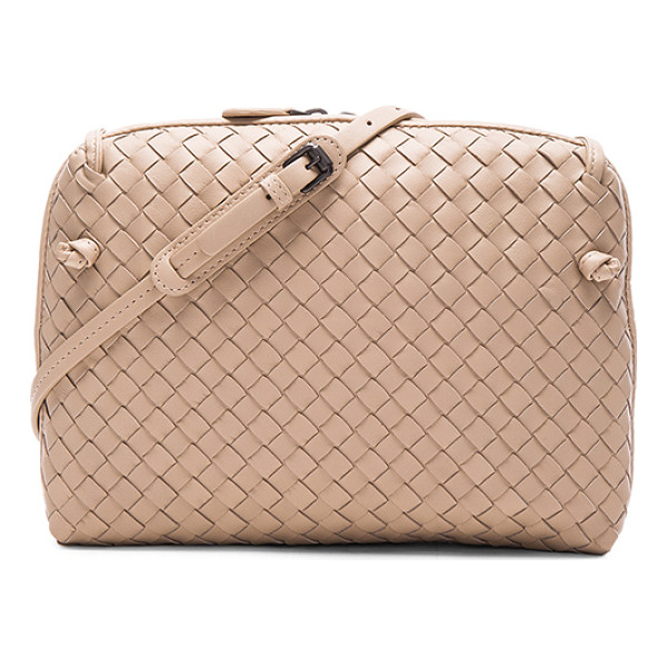 BOTTEGA VENETA Woven Leather Shoulder Bag - Intrecciato nappa leather with suede lining and...