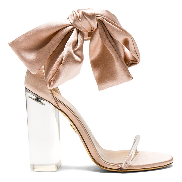 BROTHER VELLIES Satin Caroline Heels - Satin upper with leather sole. Made in Italy. Approx 100/ 4...