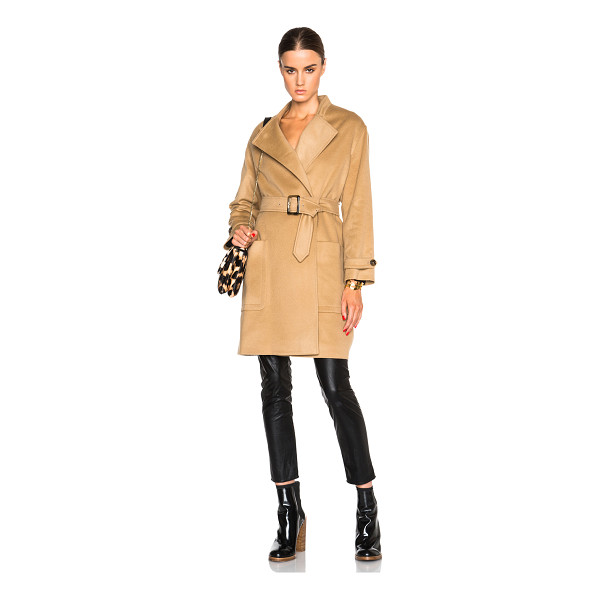 BURBERRY LONDON Heronsby oversized wrap coat with patch pocket - Self: 78% wool 22% cashmere - Lining: 51% viscose 49%...