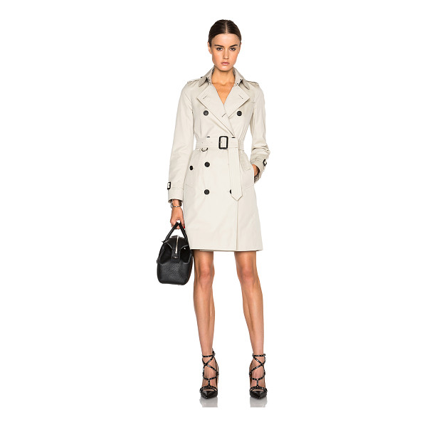 BURBERRY LONDON Kensington long trench coat - Self & Lining: 100% cotton - Lining 2: 100% viscose.  Made...