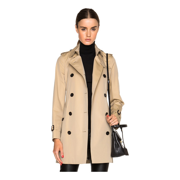 BURBERRY LONDON Kensington mid trench coat - Self & Lining: 100% cotton - Lining 2: 100% viscose.  Made...
